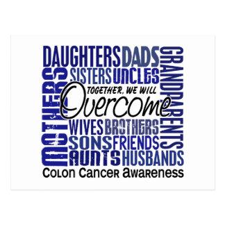 Family Square Colon Cancer Postcard