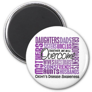 Family Square Crohn's Disease 2 Inch Round Magnet