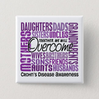 Family Square Crohn's Disease Button