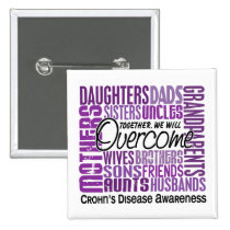 Family Square Crohn's Disease Button