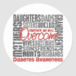 Family Square Diabetes Classic Round Sticker