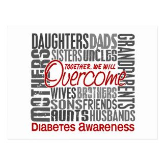 Family Square Diabetes Postcard
