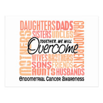 Family Square Endometrial Cancer Postcard