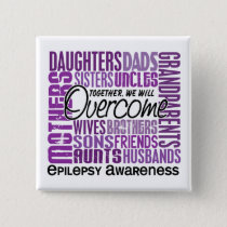 Family Square Epilepsy Button