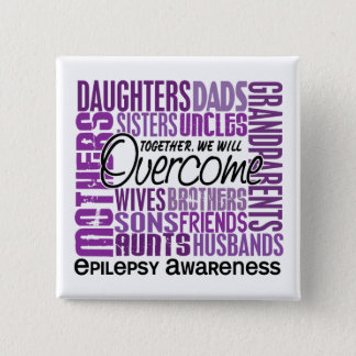 Family Square Epilepsy Button