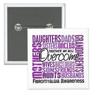 Family Square Fibromyalgia Buttons