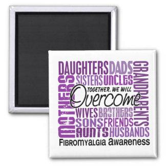 Family Square Fibromyalgia Fridge Magnet