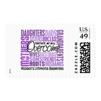 Family Square Hodgkin's Lymphoma Stamps