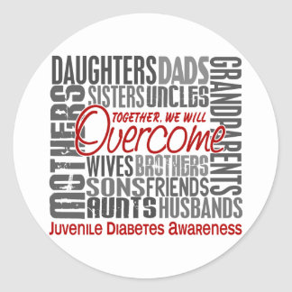 Family Square Juvenile Diabetes Classic Round Sticker