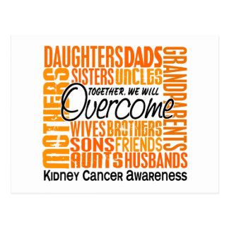 Family Square Kidney Cancer Postcard