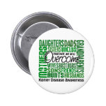 Family Square Kidney Disease Pinback Buttons