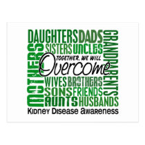 Family Square Kidney Disease Postcard