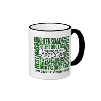 Family Square Liver Disease Coffee Mugs