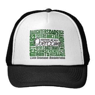 Family Square Liver Disease Mesh Hats