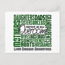Family Square Liver Disease Postcard