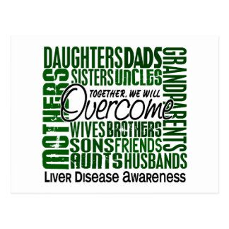 Family Square Liver Disease Postcard