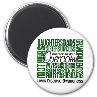 Family Square Liver Disease Refrigerator Magnets