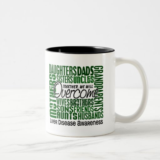 Family Square Liver Disease Two-Tone Coffee Mug