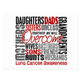 Family Square Lung Cancer Postcard