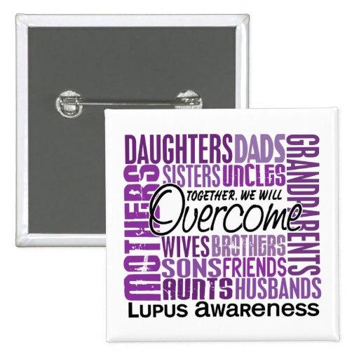 Family Square Lupus 2 Inch Square Button