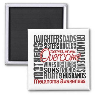 Family Square Melanoma 2 Inch Square Magnet