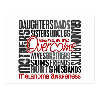 Family Square Melanoma Postcard