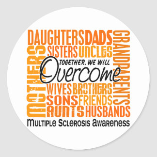 Family Square Multiple Sclerosis Classic Round Sticker