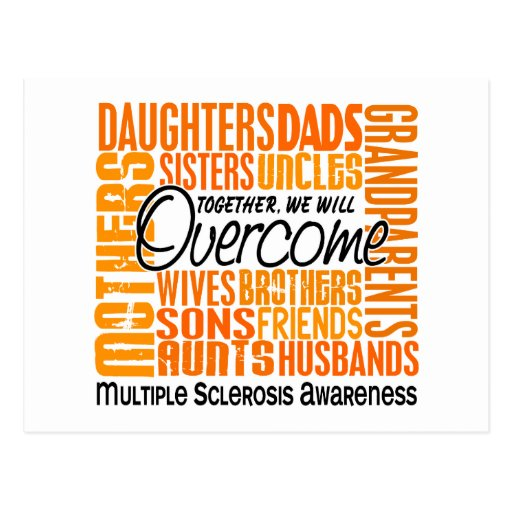 Family Square Multiple Sclerosis Postcard