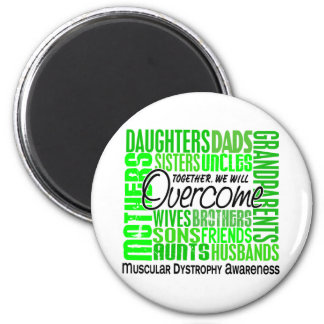 Family Square Muscular Dystrophy 2 Inch Round Magnet