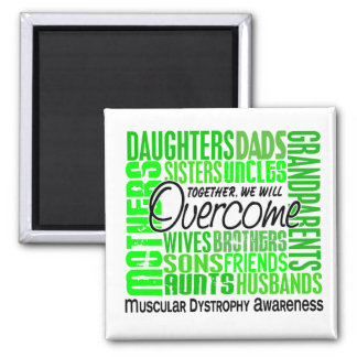 Family Square Muscular Dystrophy 2 Inch Square Magnet