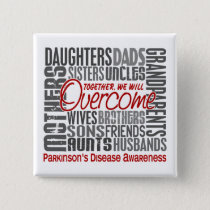 Family Square Parkinson's Disease Pinback Button