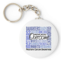 Family Square Prostate Cancer Keychain
