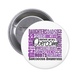 Family Square Sarcoidosis Buttons
