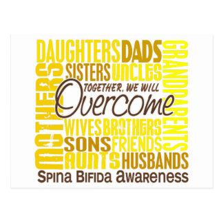 Family Square Spina Bifida Postcard