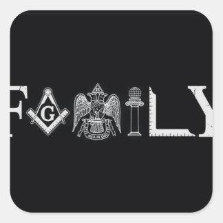 family square sticker
