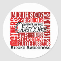 Family Square Stroke Classic Round Sticker