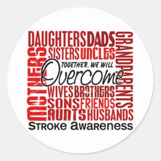 Family Square Stroke Classic Round Sticker