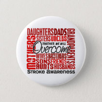 Family Square Stroke Pinback Button