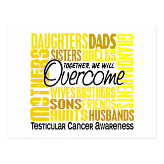 Family Square Testicular Cancer Postcard