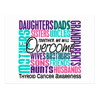 Family Square Thyroid Cancer Postcard