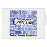 Family Square Thyroid Disease Greeting Card