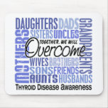 Family Square Thyroid Disease Mouse Pad