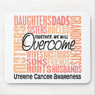 Family Square Uterine Cancer Mouse Pad