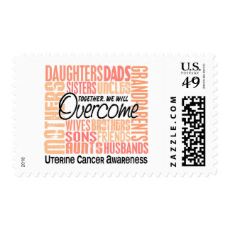 Family Square Uterine Cancer Postage Stamp