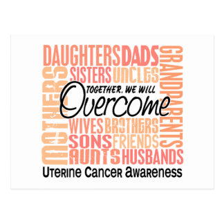 Family Square Uterine Cancer Postcard
