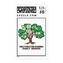 Family STATE TREE Postal Stamp