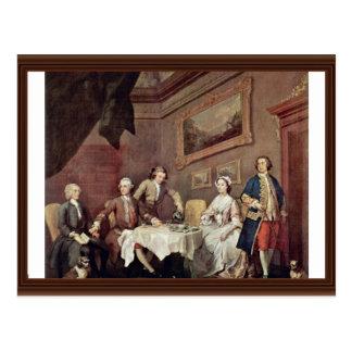 Family Strode Family Portrait By Hogarth, William Postcard