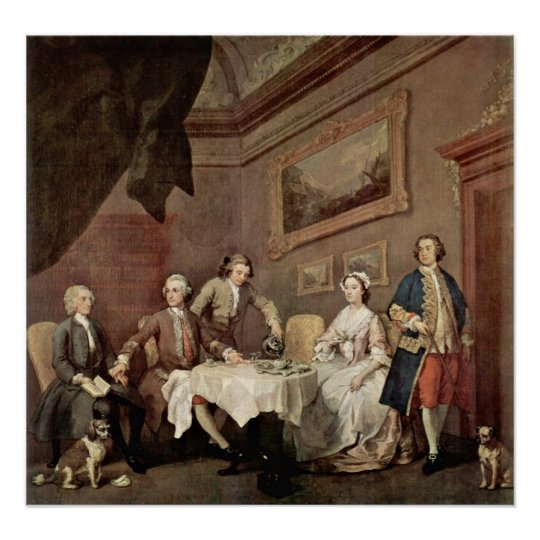 Family Strode Family Portrait by William Hogarth Poster