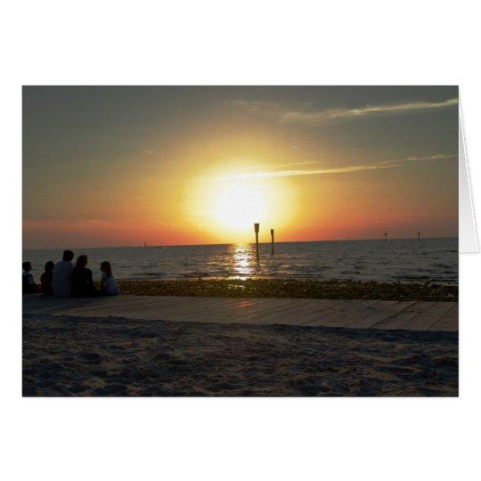 Family Sunset Card