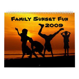 Family Sunset Fun 2009 Monthly Calendar